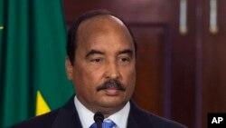 Ould Abdel Aziz au Département d'Etat américain, Washington, 4 aout 2014