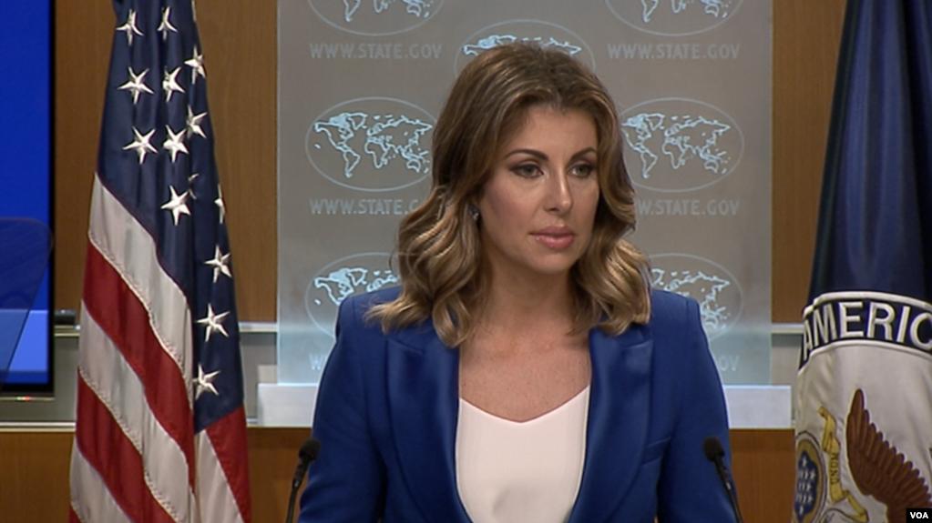Phát ngôn nhân Bộ Ngoại giao Mỹ, Morgan Ortagus.