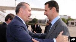 Реджеп Тайип Эрдоган и Башар Асад. Дамаск. Сирия. 17 января 2011 г.