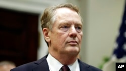 美国贸易代表莱特希泽(2020年5月21日)。
