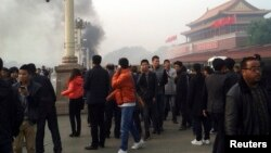 Tiananmen maydonidagi manzara