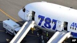 Boeing 787 после аварийной посадки