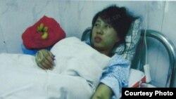 冯建梅在医院被强制引产
