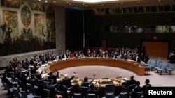 2月22日聯合國安理會就一項敘利亞人道主義援助提案進行投票