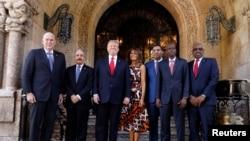 Trump calificó a los mandatarios como sus amigos y aseguró que también discutirían sobre comercio.
