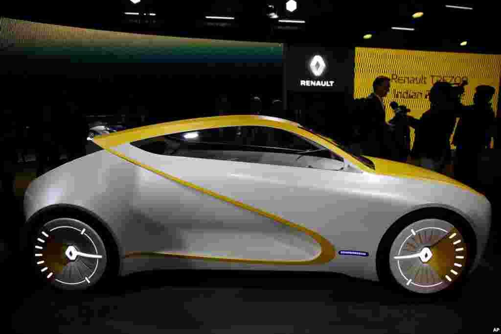 Renault's Reon concept car is displayed at the Auto Expo in Greater Noida, near New Delhi, India.