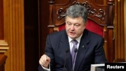 Ukrajinski predsednik Petro Porošenko obraća se parlamentu u Kijevu, 19. jun 2014
