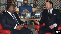Ali Bongo et Mohammed VI au Palais Royal à Marrakech le 27 décembre 2018.