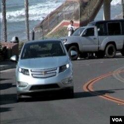 Chevrolet Volt, tokom probne vožnje uz obalu Kalifornije