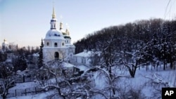 An Orthodox Christian cathedral in Kiev, Ukraine, Jan. 30, 2012.