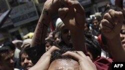 Антиправительственная демонстрация в столице Йемена. 2 апреля 2011 года