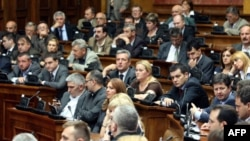 Vanredna sednica Skupštine Srbije bila je posvećena raspravi o Vladinom predlogu rezolucije o Kosovu, Beograd, 26. jul 2010.