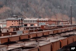 The Norfolk Southern Rail Yard is a reminder that coal in Williamson, W. VA, is still king, Thursday, November 29, 2018, (AP Photo / Tyler Evert)