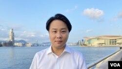 香港大學政治及公共行政學系榮譽講師袁爾昌。(美國之音湯惠芸拍攝)