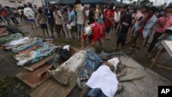 Жертвы тайфуна «Бофа». Филиппины, 5 декабря 2012г.