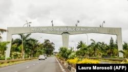 L'entrée de l'aéroport international Sir Seewoosagur Ramgoolam à Maurice le 1er octobre 2021.