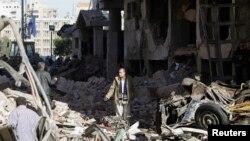 Ruševine nastale posle eksplozije u zgradi policije u gradu Mansura u delti Nila