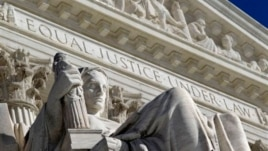 Detail of the West Facade of the U.S. Supreme Court, Washington, March 7, 2011.