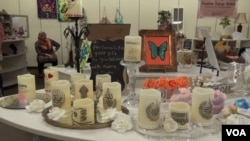 The pop-up shop featured candles, soap, sweets, paintings and jewelry among other things.