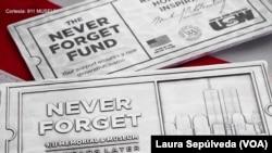 """El lema del Museo del 11 de septiembre en Nueva York: """"Nunca olvidar"""". Foto de toma de pantalla."""