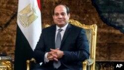 Le président Abdel Fattah al-Sissi, Caire, 20 janvier 2018.