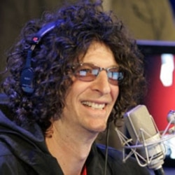 Radio personality Howard Stern in New York City during his first show on Sirius Satellite Radio in 2006
