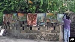 In the southern town of Jacmel, Haiti its all about art. Last year's earthquake changed the way Jacmel's artists view their craft
