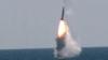 한국 국방부가 15일 독자 개발한 잠수함발사탄도미사일(SLBM) 수중발사 시험에 성공했다며 공개한 영상 중 일부.