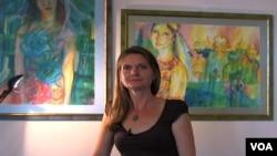Srpska slikarka Sanja Pešić Ostojić izlagala u srpskoj ambasadi u Vašingtonu