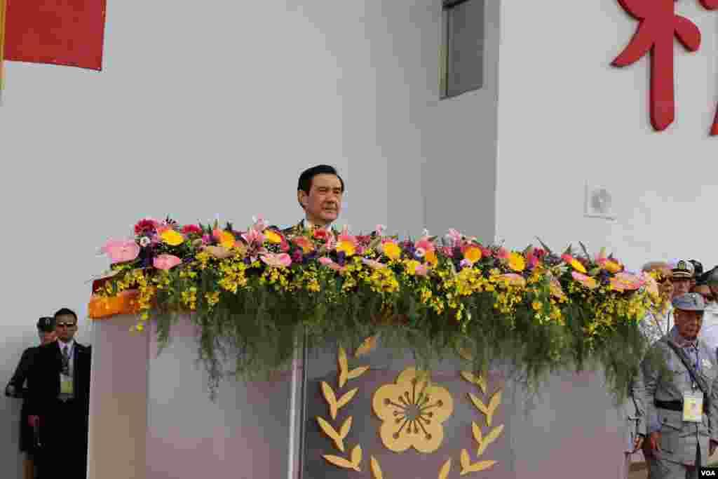 台湾总统马英九 (美国之音杨明拍摄)