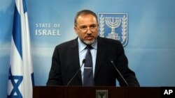 Israeli Foreign Minister Avigdor Lieberman (file photo)