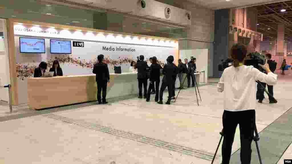 شهر اوزاکا در ژاپن برای نشست رهبران گروه ۲۰ آماده میشود - پذیرش خبرنگاران و دست اندرکاران برای پوشش خبری این نشست.