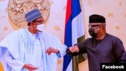 Shugaba Buhari (hagu) da Minista Adebayo (Facebook/ Bashir Ahmad)
