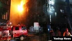 約20人死於南韓堤川市一處火災