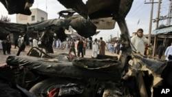 Mesto bombaškog napada u Peševaru