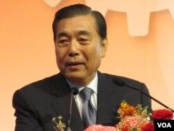 台北世贸中心董事长 王志刚(美国之音张永泰拍摄)