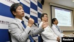 جون تاکاهاشی، استاد مرکز پژوهش های سلولی iPS دانشگاه کیوتو در کنفرانس مطبوعاتی – کیوتو، ژاپن – ۳۰ ژوئیه ۲۰۱۸