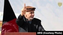 جمهور رئیس غني د افغان ځانګړو ځواکونو د قوماندانۍ غونډې ته د وینا پر مهال
