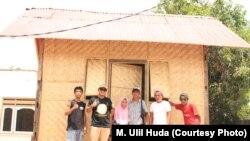 Huntara buatan Gerbang Kita di Pemenang, Lombok Utara. (Courtesy: M Ulil Huda)