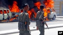 Explosão em Mogadíscio - Imagem de arquivo