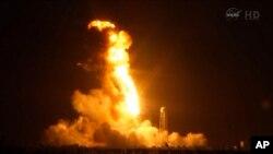Вибух космічної ракети, запущеної Orbital Sciences Corp. 28 жовтня 2014 р.