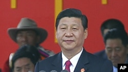 China's Vice-President Xi Jinping delivers a speech at the celebration ceremony of the 60th anniversary of Tibet's peaceful liberation in Lhasa, Tibet Autonomous Region, July 19, 2011.