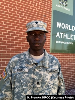 Spc. Leonard Korir, shown here at Fort Carson, Colorado, qualified for the Rio Summer Games in the 10,000-meters. He is a motor transport operator in the Army.