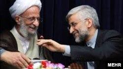 سفر انتخاباتی سعید جلیلی به قم و دیدار با مصباح یزدی