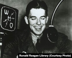 Ronald Reagan as a radio announcer