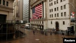 Ngay cả trung tâm tài chính Wall Street ở New York cũng vắng vẻ vì dịch Covid-19