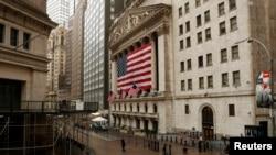 2020年3月19日的華爾街紐約證券交易所。