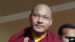 藏傳佛教領袖之一噶瑪巴喇嘛。(資料圖片)
