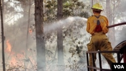 Esta semana murieron dos bomberos cuando trataban de extinguir un incendio forestal.