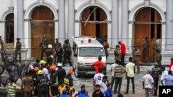 Gereja Katolik St. Anthony saat terjadi serangan pada Hari Paskah 21 April di Kolombo, Srilanka (foto: dok).
